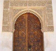 Palace door within the Alhambra, Granada, Spain by ljm000