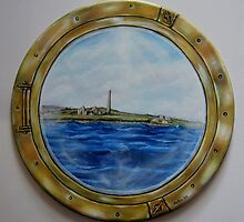 """Sailing past Scattery Island, Ireland"" - oil painting by Avril Brand"