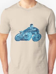 blue motorcycle T-Shirt