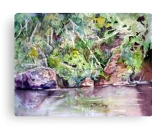 Abram's Creek - Impressionistic Watercolor Landscape Canvas Print