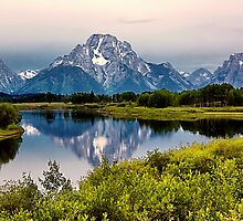 Mount Moran Reflection (2) by Teresa Zieba