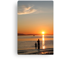 Father Son Fishing Day Canvas Print
