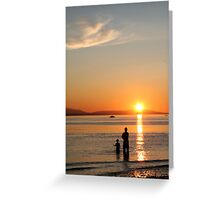 Father Son Fishing Day Greeting Card