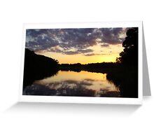 Sunset on Christie Lake Greeting Card