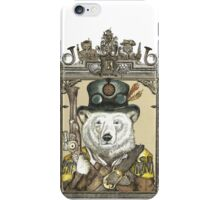 Polarbear Warden with Frame iPhone Case/Skin