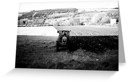 Black and White Tractor by Donncha O Caoimh