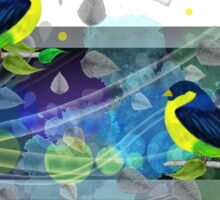 Bright border with painted birds Sticker