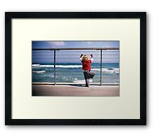 what is it, dad? Framed Print