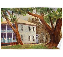 House on Front Street - Impressionistic Watercolor Painting Poster