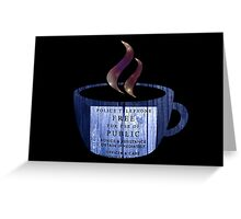 Tea with the Doctor Greeting Card