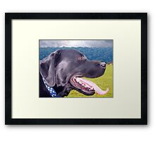 Canine Version of 'The Scream' Framed Print