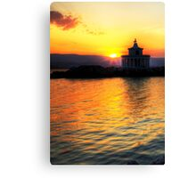 Lighthouse Of Saint Theodoroi At Sunset Canvas Print