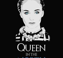 Sansa Stark - Game of Thrones - Queen in the North - black by Sithuralom