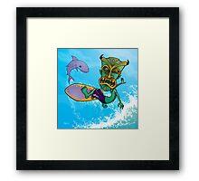 Tiki Surfer Framed Print