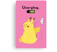 Pikachu Charging Canvas Print