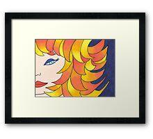 The Girl with  Tangerine and Lemon Hair Framed Print
