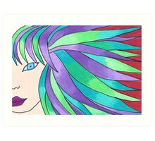 The Girl with Streaks in Her Hair Art Print