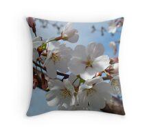 Cherry Blossoms & Blue Sky Throw Pillow
