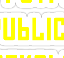 The People's Republic of Berkeley (yellow letters) Sticker