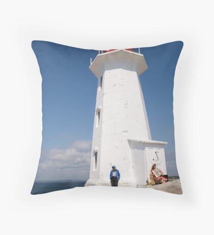 Lighthouse at Peggy's Cove Throw Pillow