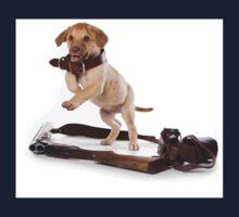 Brown retriever puppy jumping Kids Tee