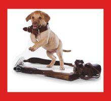 Brown retriever puppy jumping One Piece - Short Sleeve