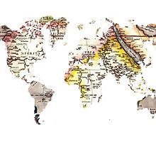 Map of the world Maps by JBJart