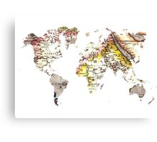 Map of the world Maps Canvas Print