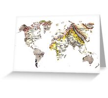 Map of the world Maps Greeting Card