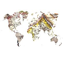 Map of the world Maps Photographic Print