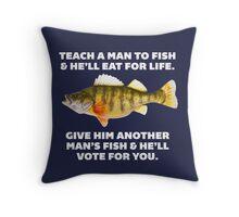 Teach A Man To Fish Throw Pillow