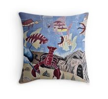 Life under the sea Throw Pillow