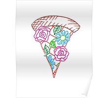 Flower Pizza Poster
