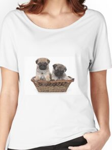 two cute pug puppy Women's Relaxed Fit T-Shirt