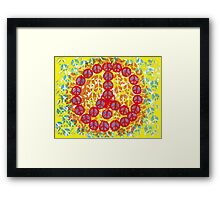 PEACE AROUND Framed Print