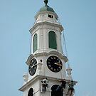 clock tower painting by Roslyn Lunetta