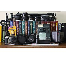 Cameras and Books Photographic Print