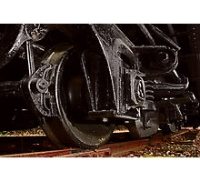 Train Wheels Photographic Print