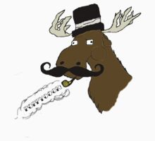 Moose-Stache by Lizzie Phillips