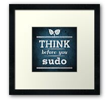 Think Before You Sudo Framed Print