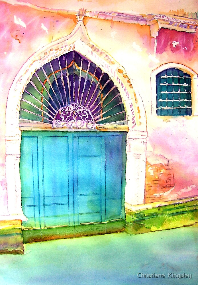 Venetian Doorway II: Only in Venice... by Christiane  Kingsley