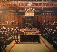 Banksy - Monkey Parliament by Kiwikiwi