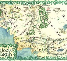 Hand painted custom Middle Earth design by Ioreth