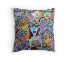 Masquerade 7 Throw Pillow