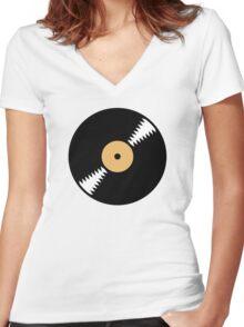 Vinyl Women's Fitted V-Neck T-Shirt