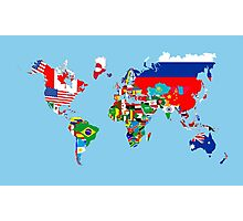 world flags map Photographic Print