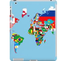 world flags map iPad Case/Skin