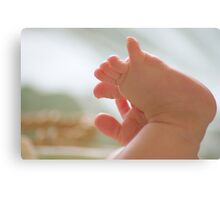 little toes Canvas Print