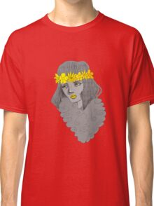 Woman with Flowers Classic T-Shirt