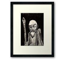 annað augað gamall maður-one eyed old man Framed Print